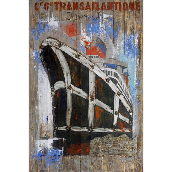 Shop Aurelle Home Titanic Transatlantic Canvas Wall Decor - On Sale ...