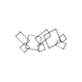 Aurelle Home Strips Geometric Wall Decor