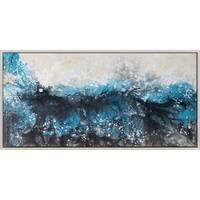Aurelle Home Tiffany Blue Canvas Wall Art