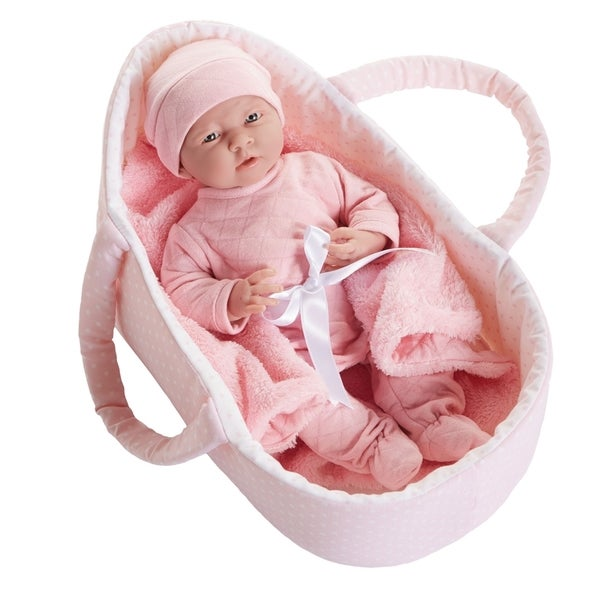"""Deluxe 15.5"""" Doll with Fabric Basket and Gift Set"""