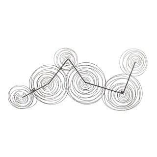 Aurelle Home Geometric Swirl Metal Wall Decor