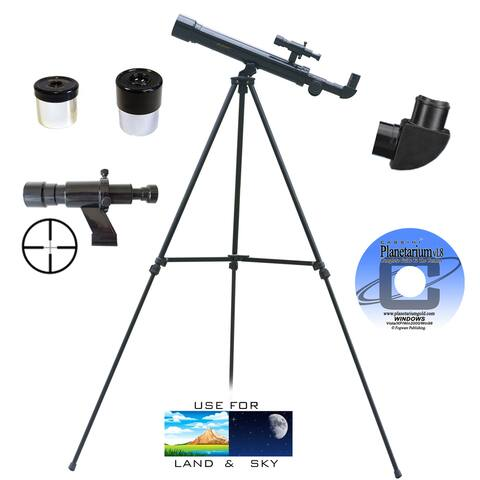 500mm x 45mm Terrestrial Refractor Telescope Kit