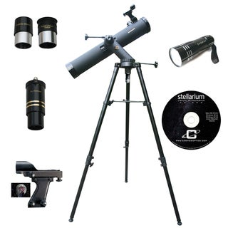 800mm x 80mm TRACKER Reflector Telescope with RED LED light Kit