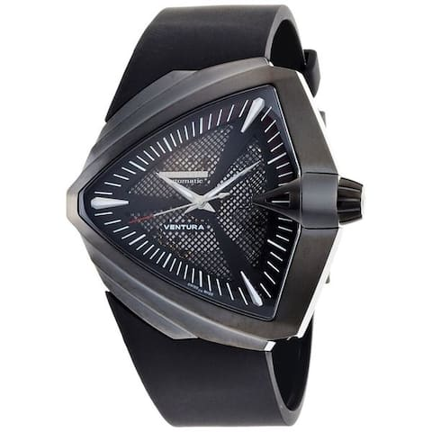 Hamilton Men's H24615331 'Ventura XXL Elvis Anniversary' Automatic Black Rubber Watch