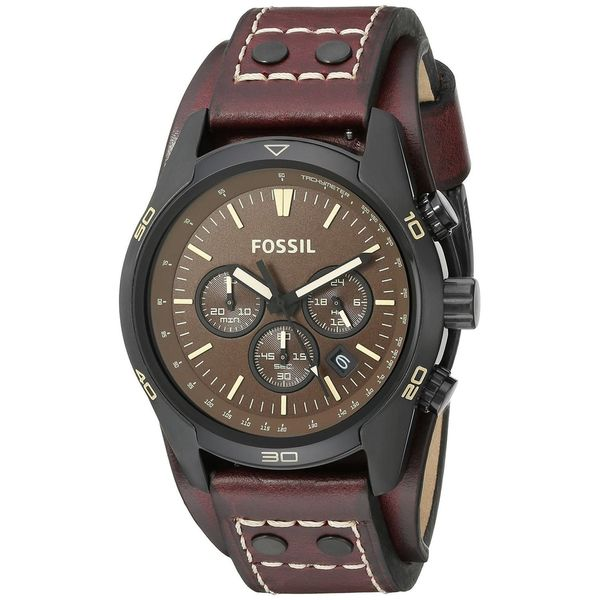 614ba673d Shop Fossil Men's CH2990 'Coachman' Chronograph Brown Leather Watch - Free  Shipping Today - Overstock - 10590546