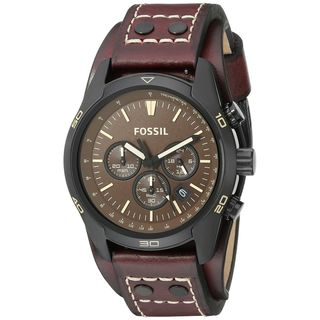 Fossil Men's CH2990 'Coachman' Chronograph Brown Leather Watch