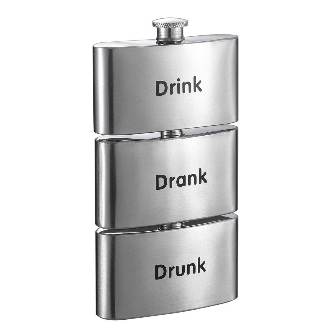 Visol Tenses Printed Three-In-One Liquor Flask Tower - 3 ...