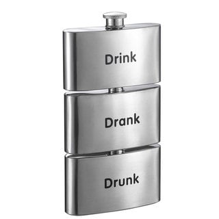 Visol Tenses Printed Three-In-One Liquor Flask Tower - 3 ounces