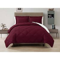 VCNY Solid Reversible Down Alternative 3-piece Comforter Set