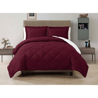 VCNY Solid Reversible Down Alternative 3-piece Comforter Set (4 options available)