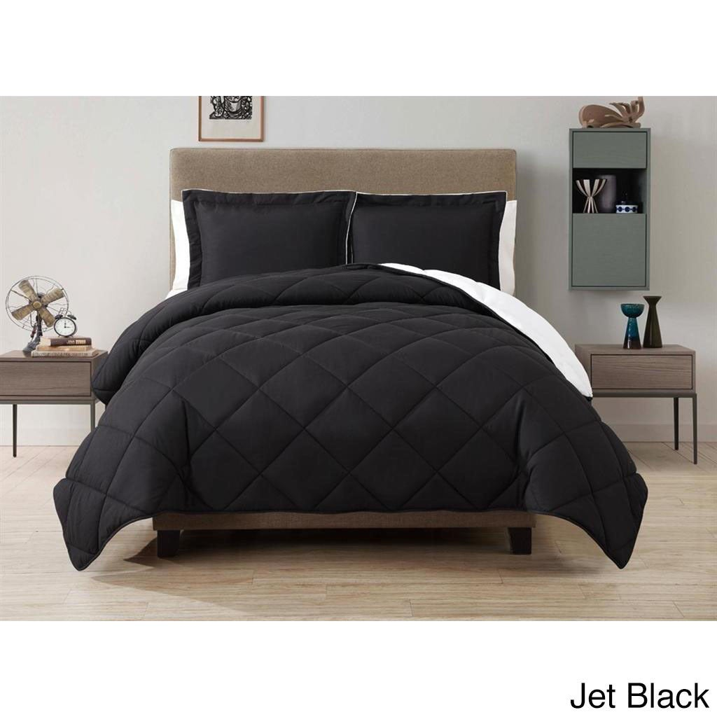 Vcny Solid Reversible Down Alternative 3-piece Comforter ...