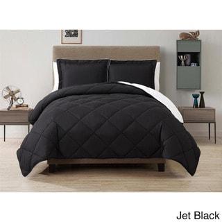 VCNY Solid Reversible Down Alternative 3-piece Comforter Set