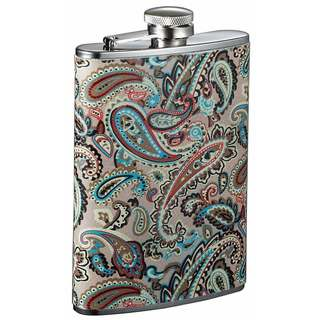 Visol Serenora Paisley Patterned Flask for Women - 8 Ounce