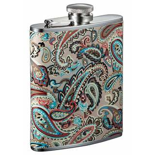 Visol Serenora Paisley Patterned Flask for Women - 6 Ounce