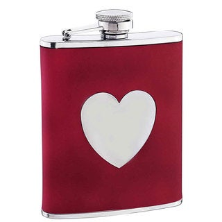 Visol True Love Red Liquor Flask - 6 ounces