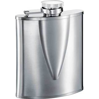 Visol V Wide Mouth Stainless Steel Liquor Flask - 6 ounces