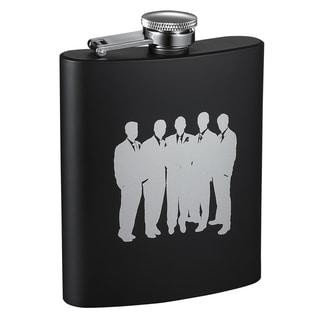 Visol Raven Entourage Black Matte Flask - 8 ounces