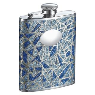 Visol Glitz Blue Glitter Liquor Flask - 6 ounces