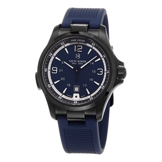 Swiss Army Men's 241707 'Night Vision' Blue Dial Blue Rubber Strap Swiss Quartz Watch