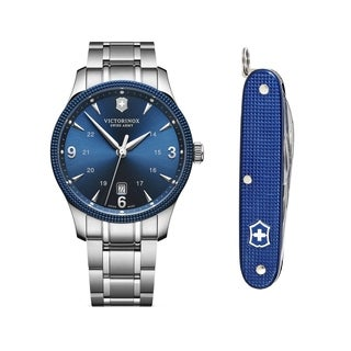 Swiss Army Men's 241711.1 'Alliance' Blue Dial Stainless Steel Swiss Quartz Watch