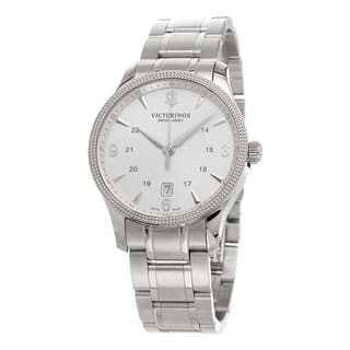 Swiss Army Men's 241712.1 'Alliance' Silver Dial Stainless Steel Swiss Quartz Watch|https://ak1.ostkcdn.com/images/products/10590657/P17664711.jpg?impolicy=medium