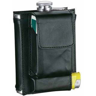 Visol Marsupial Black Combination Liquor Flask - 7 ounces
