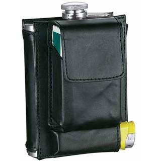 Visol Marsupial Black Combination Liquor Flask - 7 ounces|https://ak1.ostkcdn.com/images/products/10590658/P17664813.jpg?impolicy=medium