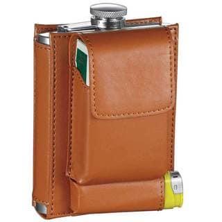 Visol Marsupial Brown Combination Liquor Flask - 7 ounces