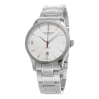 Swiss Army Men's 241715.1 'Alliance' Silver Dial Stainless Steel Swiss Automatic Watch
