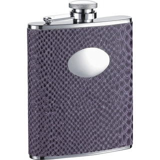 Visol Purple Boa Snakeskin Pattern Liquor Flask - 6 ounces