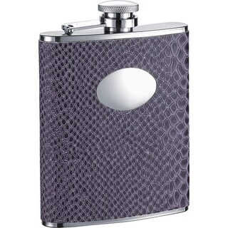 Visol Purple Boa Snakeskin Pattern Liquor Flask - 6 ounces
