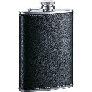 Visol Max Black Leather Liquor Flask - 8 oz