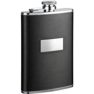 Visol Ontario Black Leather Liquor Flask - 8 ounces