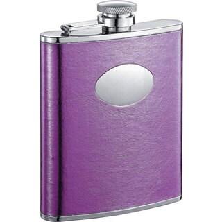 Visol Violet Satin Purple Liquor Flask - 6 ounces