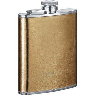 Visol Goldie Satin Gold Liquor Flask - 6 ounces