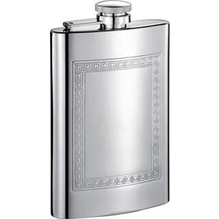 Visol Theseus Greek Design Stainless Steel Liquor Flask - 8 ounces