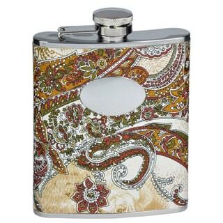 Visol Floral Paisley Pattern Liquor Flask - 6 ounces