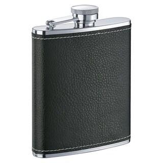 Visol Eclipse S X Black Leather Liquor Flask - 6 ounces