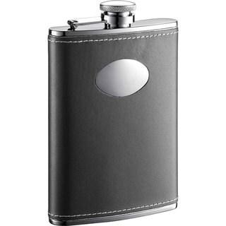 Visol Eclipse Z Black Leather Liquor Flask - 8 ounces