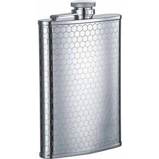 Visol Hive Beehive Pattern Stainless Steel Liquor Flask - 8 ounces