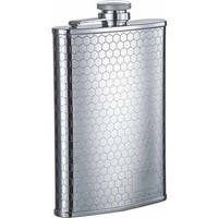 Visol Hive Beehive Pattern Stainless Steel Liquor Flask - 8 ounces - Silver