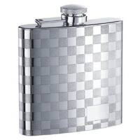 Visol Mate Checkered Stainless Steel Liquor Flask - 6 ounces