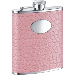 Visol Annabella Light Pink Snake Pattern Liquor Flask - 6 ounces