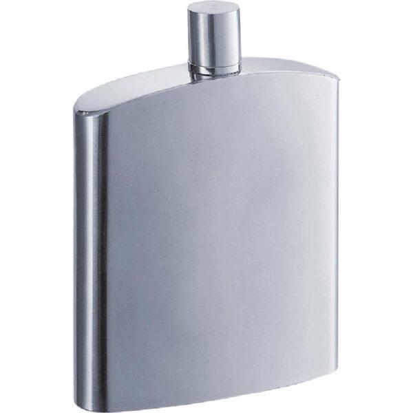 Visol Inspire Satin Stainless Steel Liquor Flask - 8 ounces
