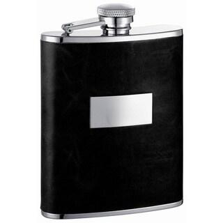 Visol Ontario Black Leather Liquor Flask - 6 ounces