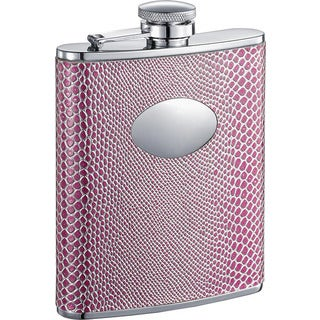 Visol Viper Pink Snake Pattern Liquor Flask - 6 ounces
