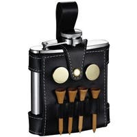 Visol GB Light Liquor Flask with Black Leather Wrap and Golf Tools - 5 ounces