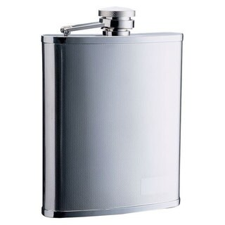 Visol Cyclops Barley Pattern Stainless Steel Liquor Flask - 18 ounces - Silver