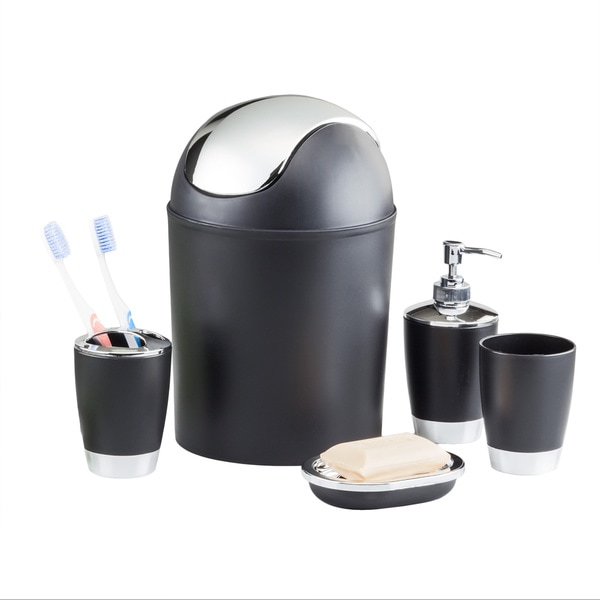 5-piece Bathroom Accessory Set - Black