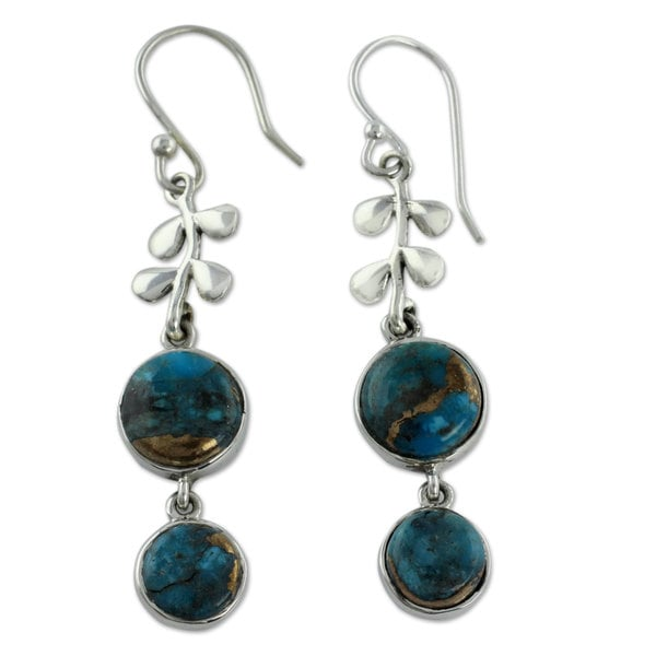 Shop Handmade Sterling Silver 'Sweet Blueberries' Turquoise